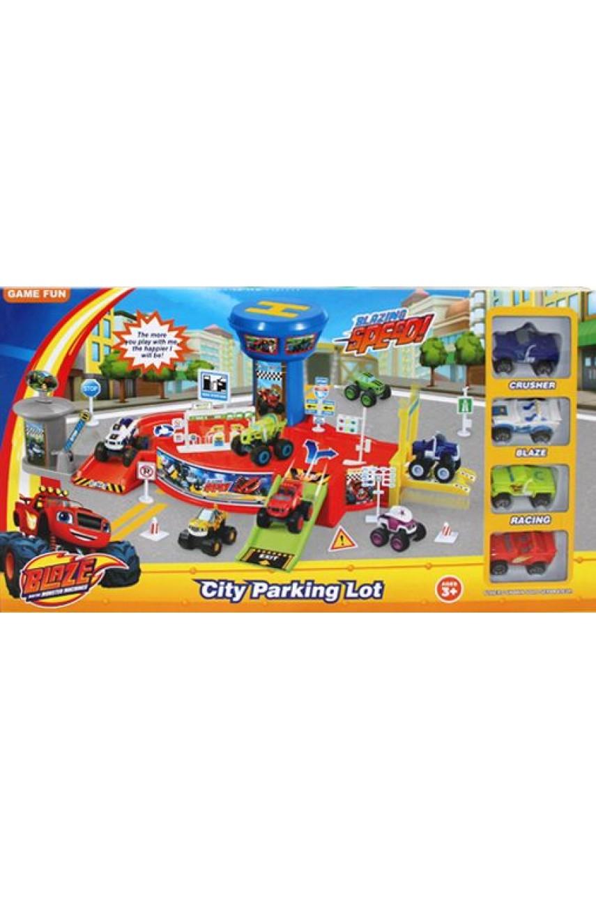 Игровой набор Городская парковка Вспыш и Чудо-машинки 828-58