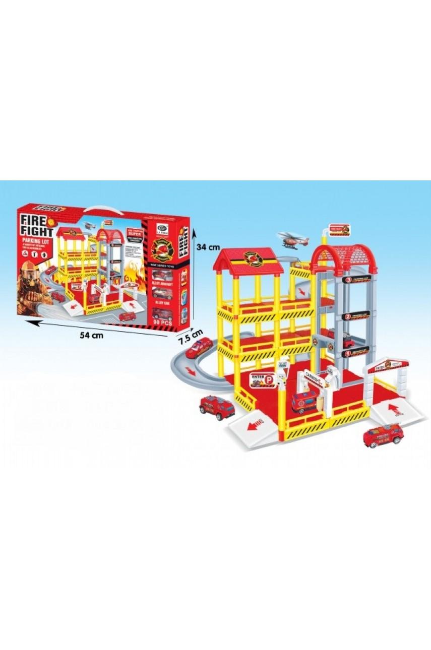 Игровой набор Паркинг Пожарная станция HLT-0073