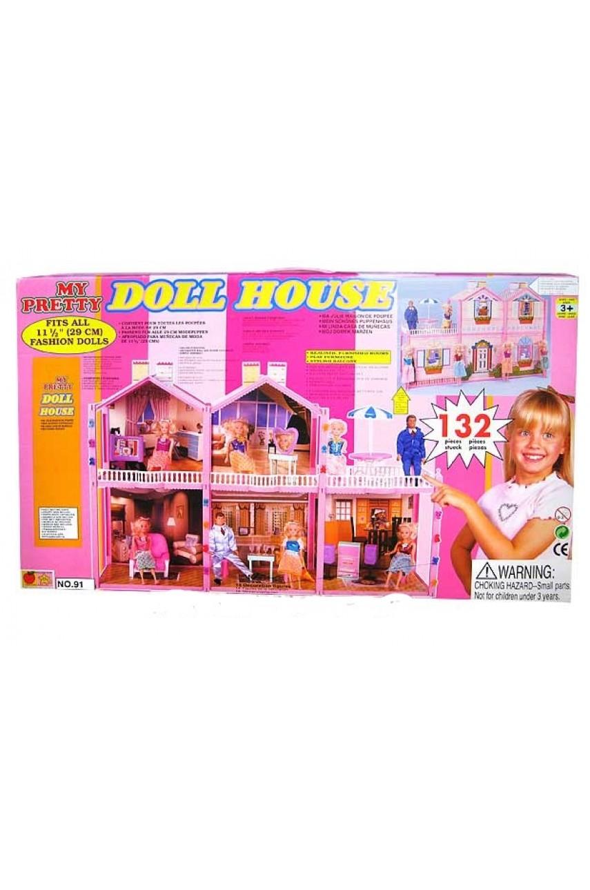 Дом для кукол Барби Doll House 132 детали