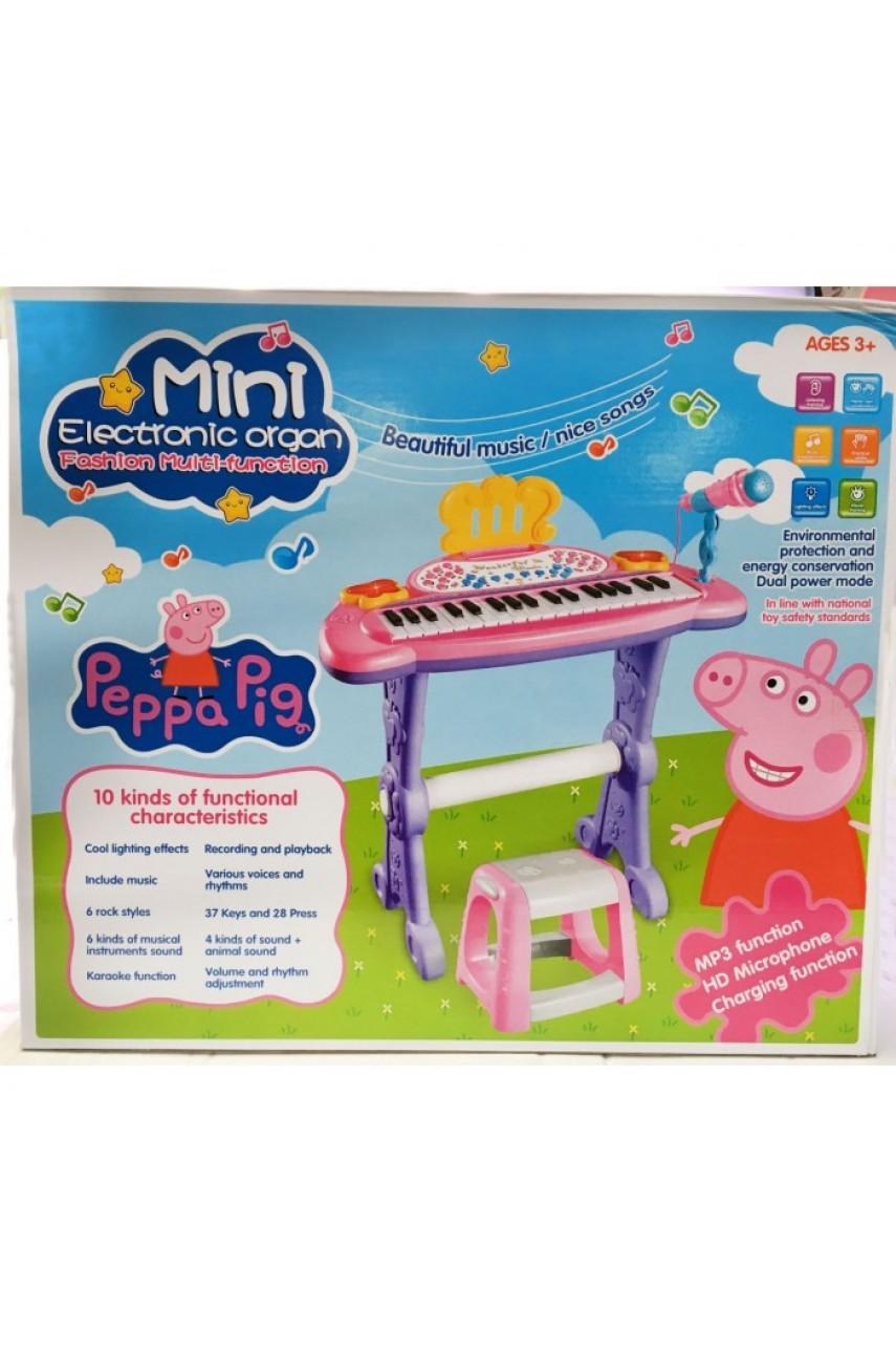 Детское пианино со стульчиком Свинка Пеппа