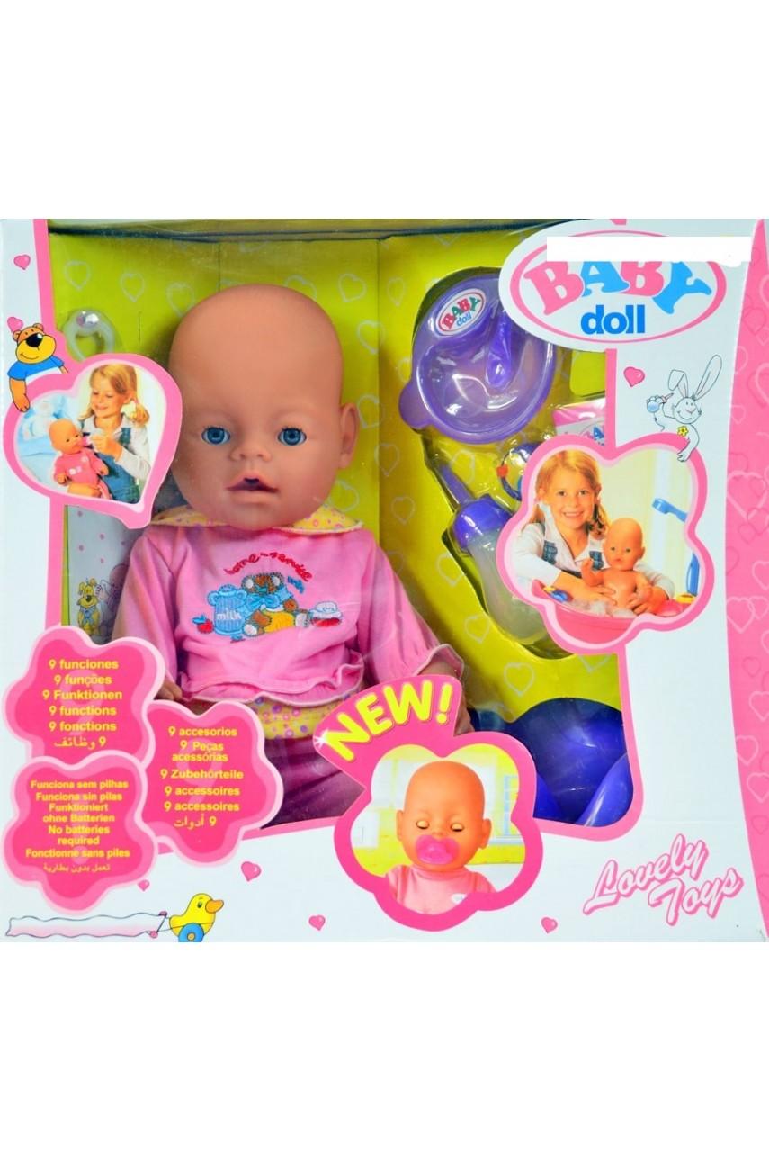 Кукла baby doll 9 функций