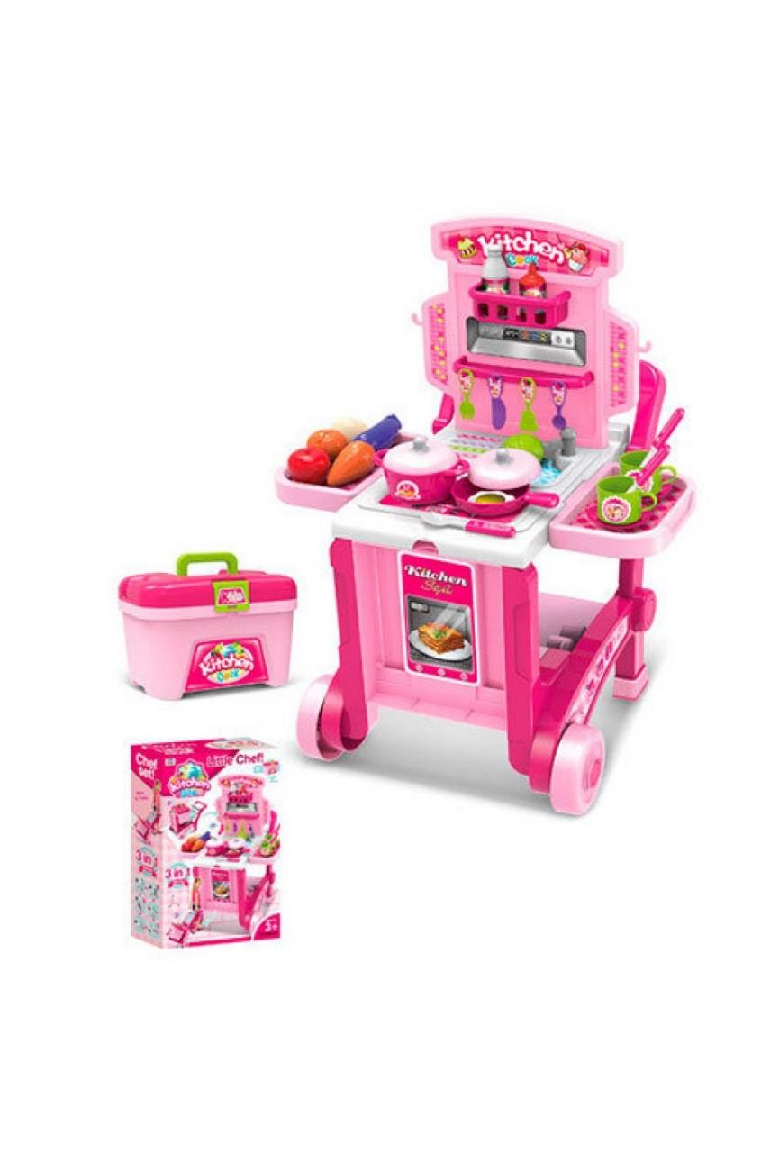Детская кухня чемодан-тележка 008-927
