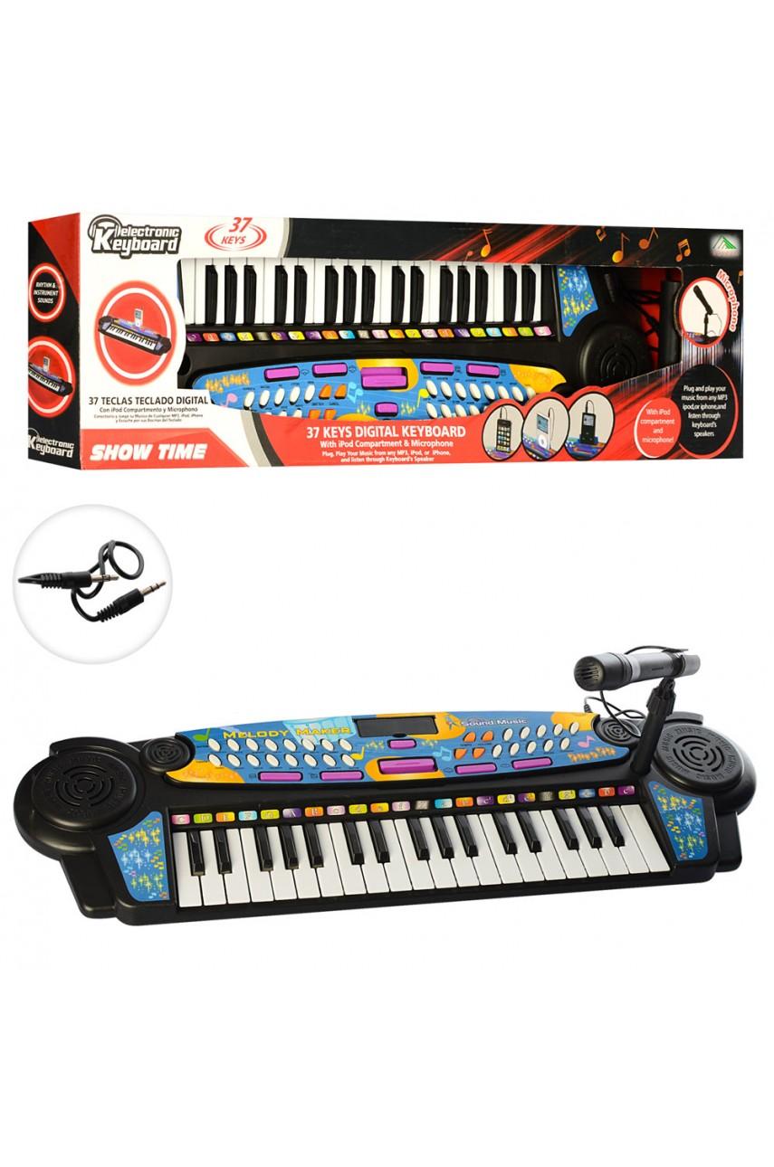Детский синтезатор с микрофоном 22438