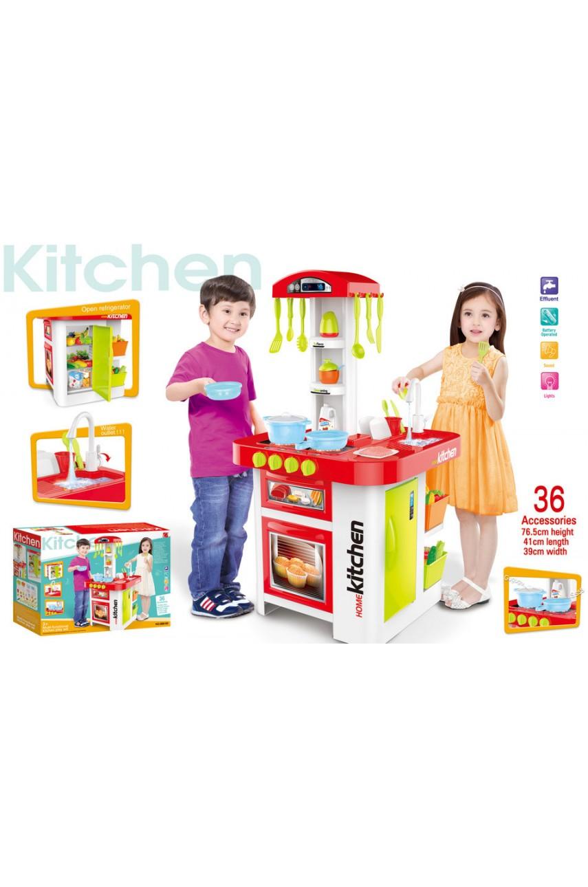 Детская игровая кухня 899-60 со светом, звуком, ЛЬЕТСЯ ВОДА