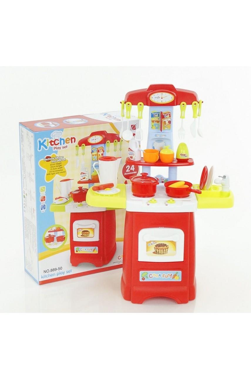 Детская игровая кухня 889-52 льется вода