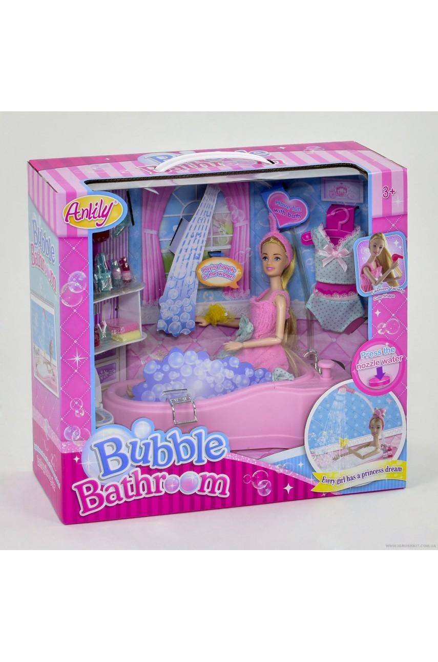 Кукла Anlily с набором Ванная комната 99048