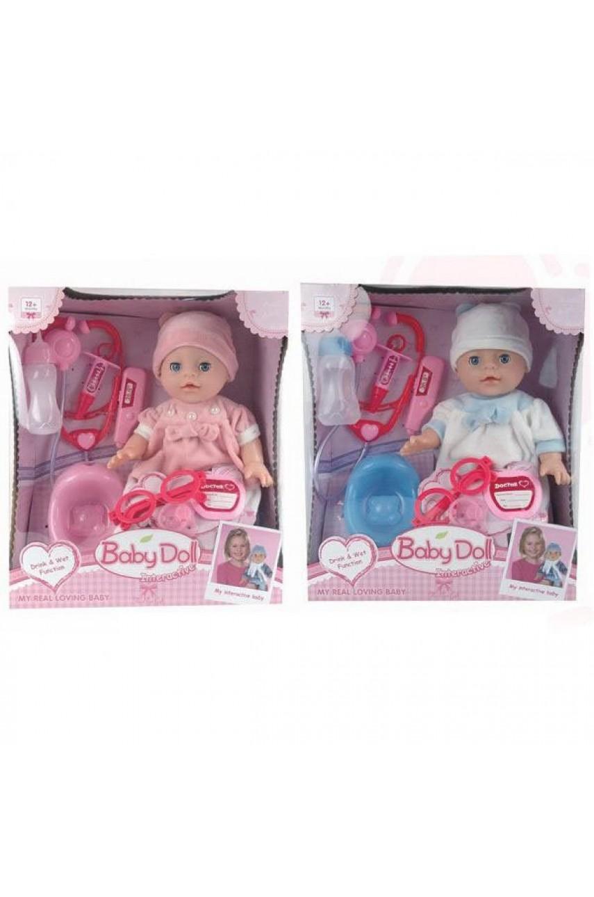 Кукла baby Doll YL1713N c набором доктора