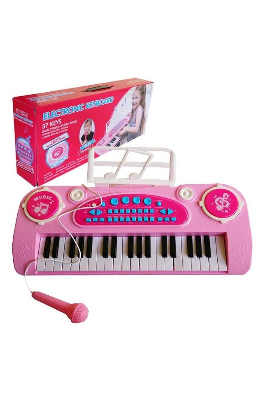 Детский синтезатор 328-03B розовый