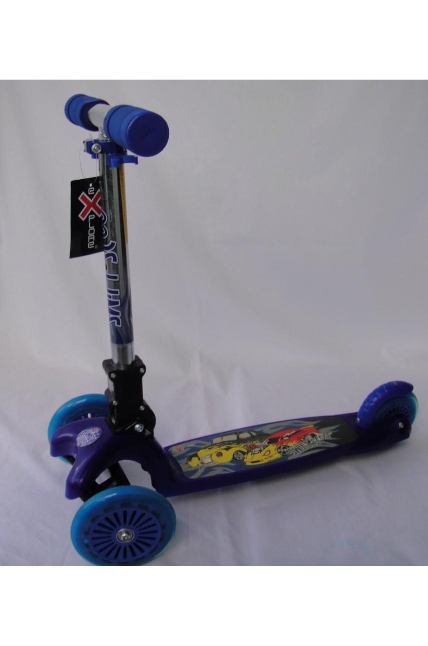 Детский самокат трехколесный Explore Scooter синий