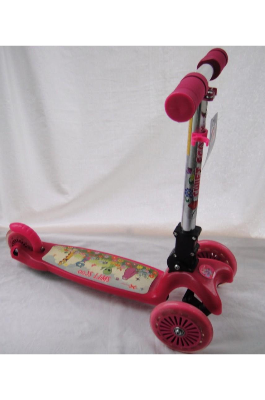 Детский самокат трехколесный Explore Scooter розовый