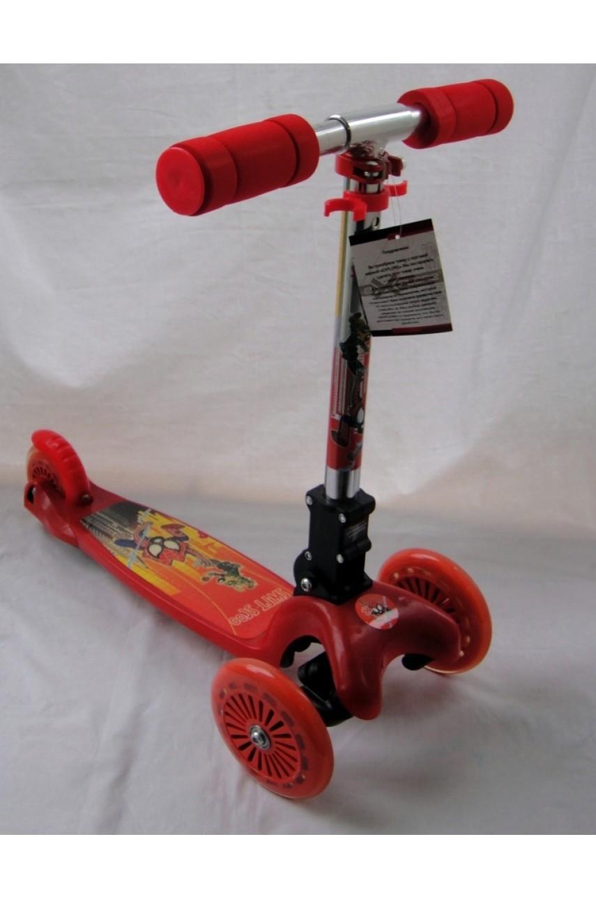 Детский самокат трехколесный Explore Scooter красный