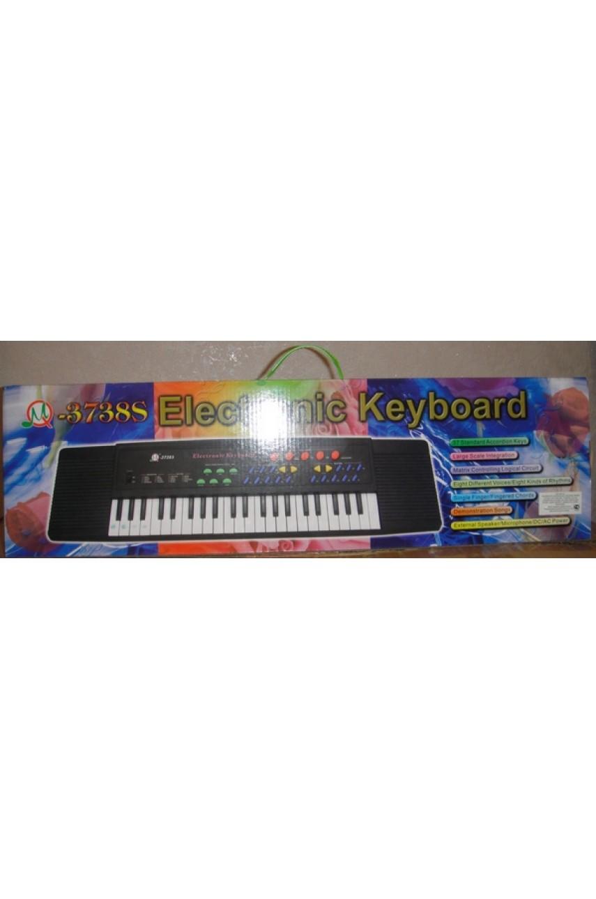 Детское пианино синтезатор 3738FM с радио и микрофоном