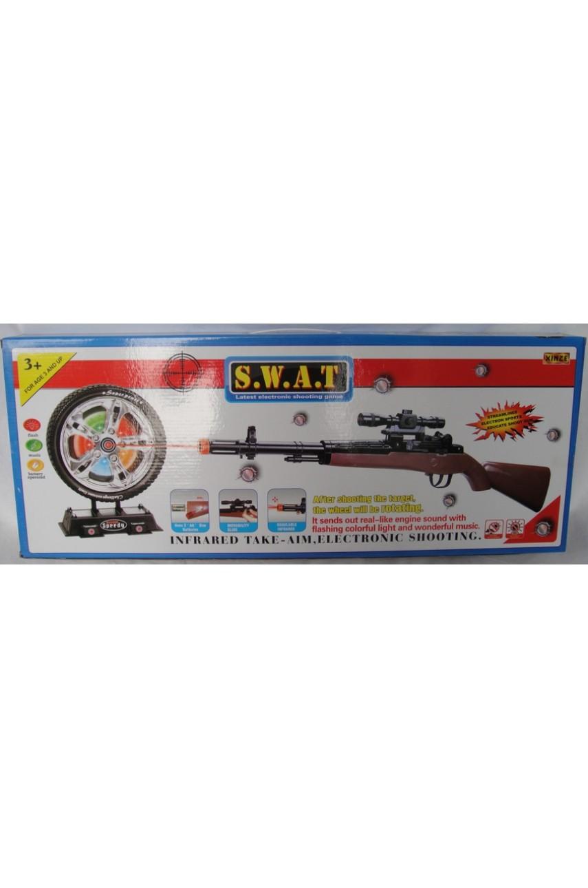 Игровой набор Swat с автоматом и мишенью
