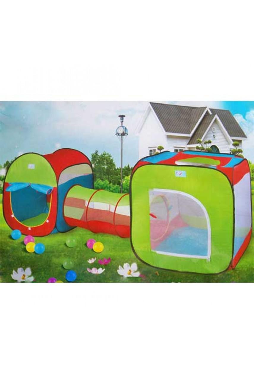 Детская палатка с тоннелем Super tent 240x74x84 см