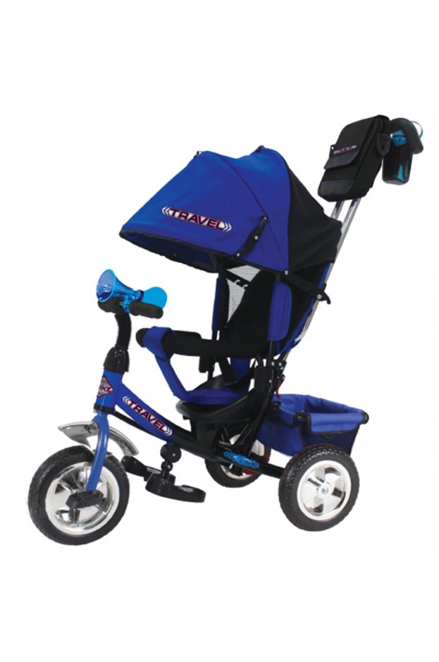 Детский трехколесный велосипед Trike Travel TTA2B синий надувные колеса