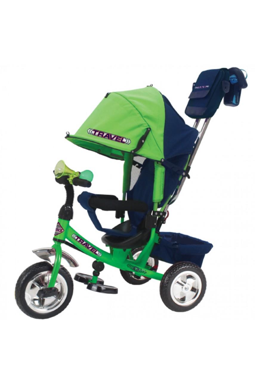 Детский трехколесный велосипед Trike Travel TTA2G зеленый надувные колеса