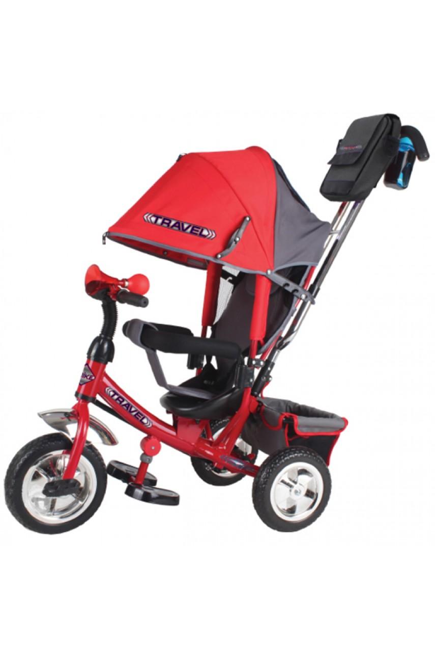 Детский трехколесный велосипед Trike Travel TTA2R красный надувные колеса