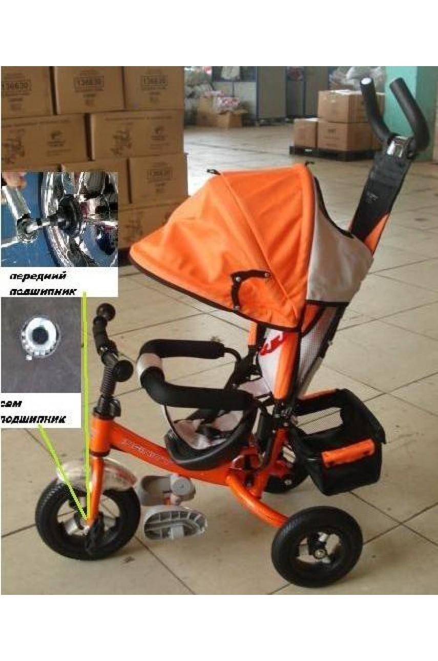 Детский трёхколёсный велосипед Infinity Trike оранжевый с надувными колёсами