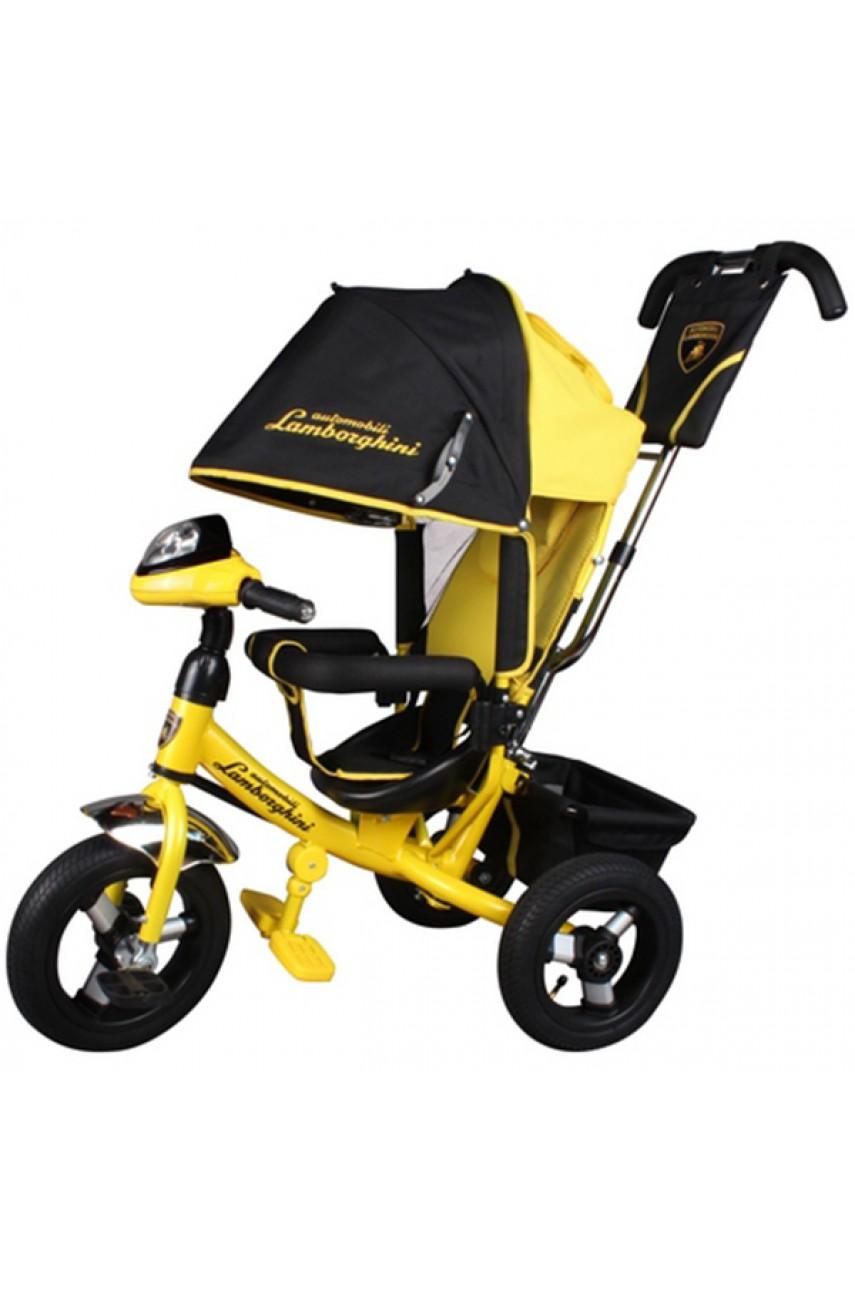 Детский трехколесный велосипед Lamborghini Original L2Y надувные колеса желтый