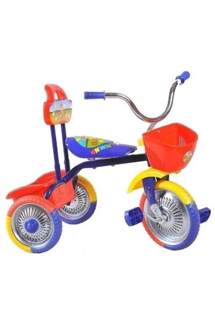 Детский трехколесный велосипед T001 розовый, красный, синий