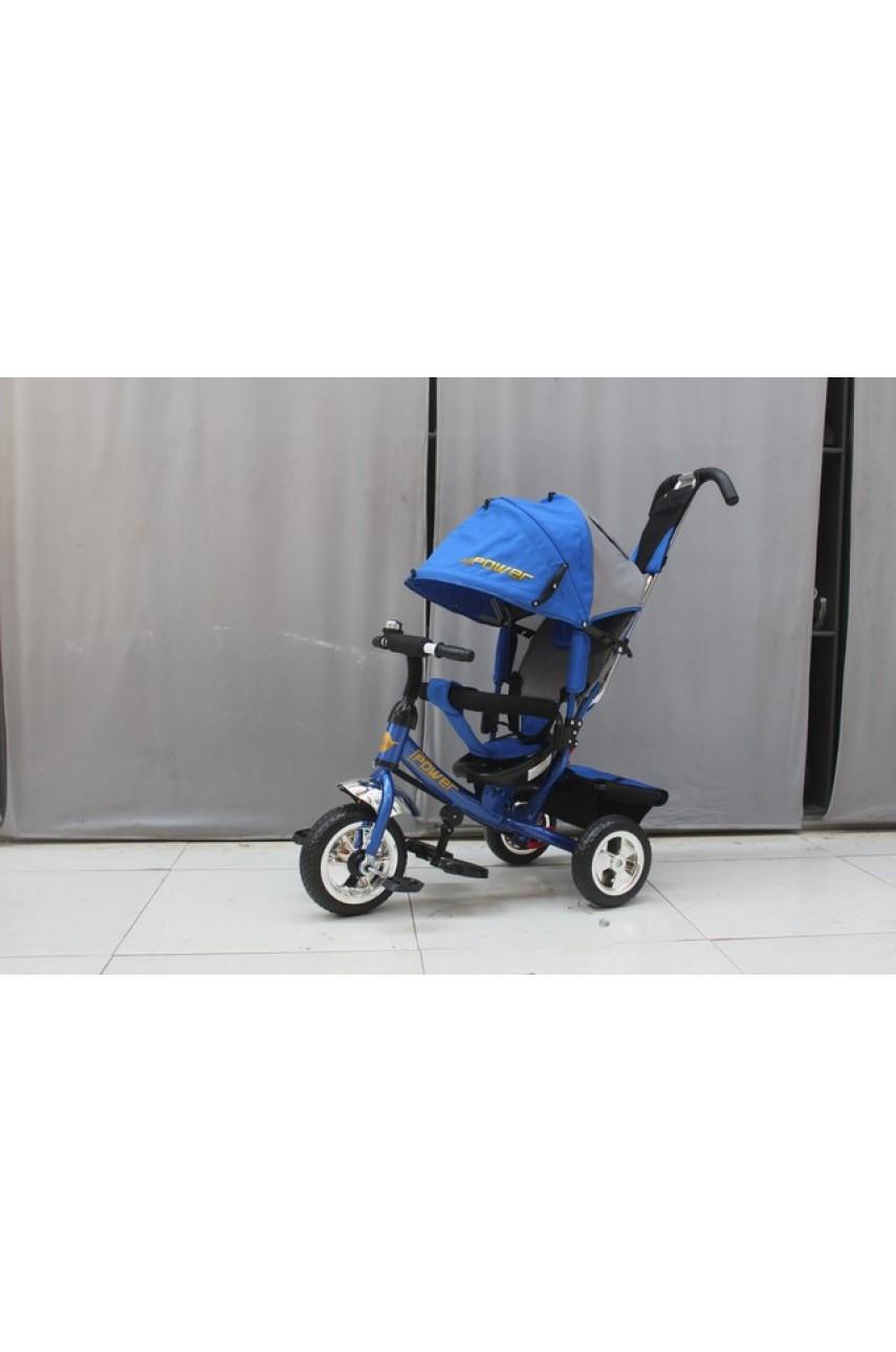 Детский трехколесный велосипед Trike Power JP7BS синий ПВХ колеса