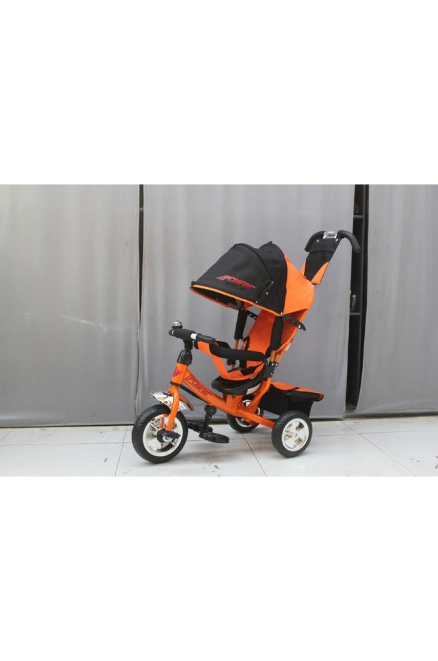 Детский трехколесный велосипед Trike Power JP7OS оранжевый ПВХ колеса