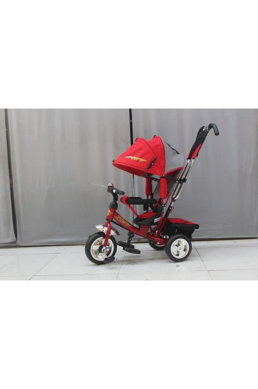 Детский трехколесный велосипед Trike Flower JF7RS красный ПВХ колеса