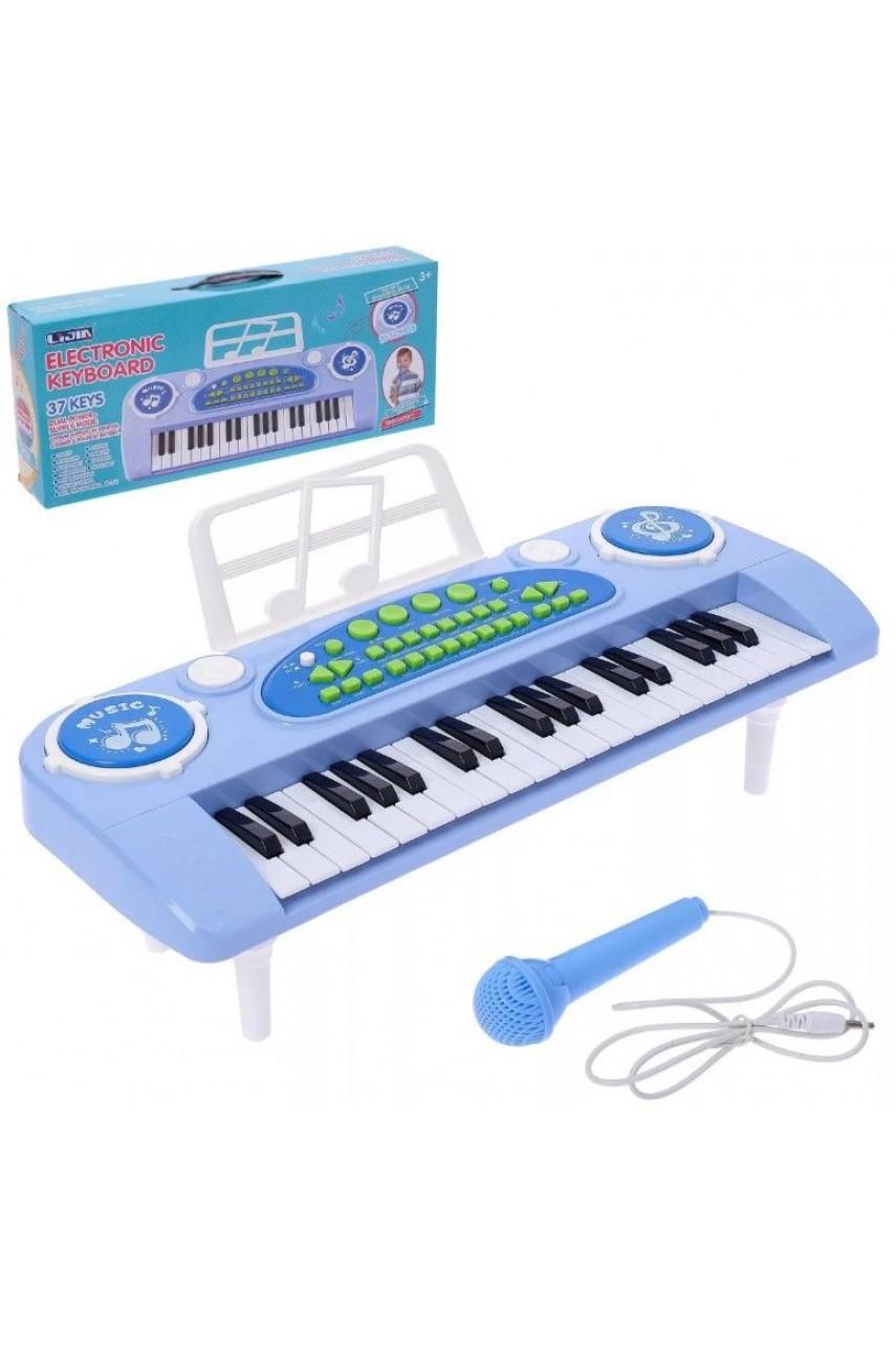 Детский синтезатор 328-03C голубой