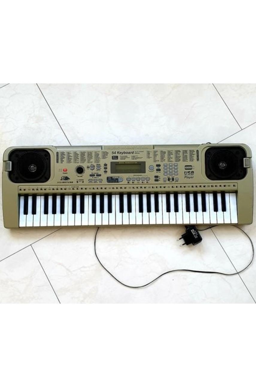 Детский синтезатор с микрофоном MQ-807usb